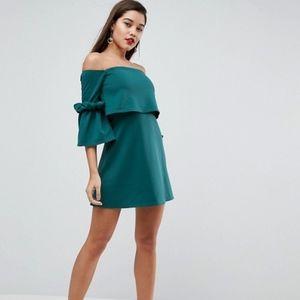 NWT ASOS Petites Scuba Fluted Sleeve Minidress